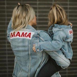"""Jackets & Blazers - """"mama"""" denim jacket"""